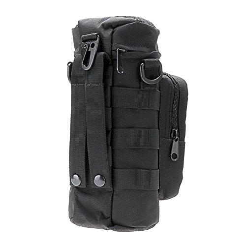 Snner Outdoor Sport Wasser Flasche Wasserkocher Tasche schwarz schwarz Small pocket size(L X W X H): 16*3*3cm;Large pocket size(H X Dia): 11*4