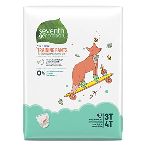 Price comparison product image Seventh Generation Baby & Toddler Training Pants,  Large Size 3T-4T,  22 Count (Packaging May Vary)