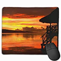 """Sunset On The Beach Mouse Pad Non-Slip Rubber Gaming Mouse Pad Rectangle Mouse Pads for Computers Desktops Laptop 9.8"""" x 11.8"""""""