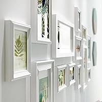 G-Y Pared De La Foto Marco De Madera Pared Dormitorio Sala De Estar Creativo 13 Combinación De Imágenes (Color : Blanco)