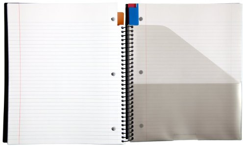 """Five Star Advance Spiral Notebook, 3 Subject, College Ruled Paper, 150 Sheets, 11"""" x 8-1/2"""" Sheet Size, Red (72803) Photo #3"""