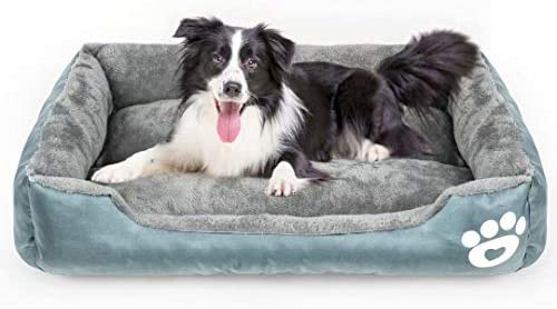Calming Dog Bed Warming Washable Rectangle Sleeping Orthopedic Sofa Pet Bed with Breathable product image