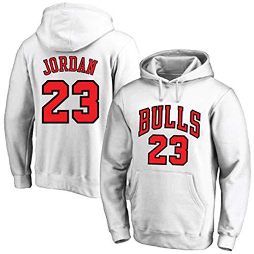 SGYW Blanco - American Bulls Baloncesto Jordan Sudadera #23 Pullover Michael Graphic Transpirable Chicago al aire libre Casual Juego Sudaderas para Hombres