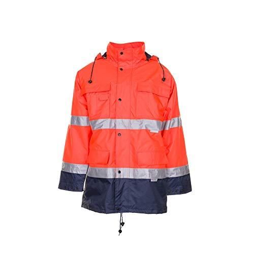 Größe 8XL Herren Planam Warn-/Wetterschutz Parka 2-farbig orange marine Modell 2056