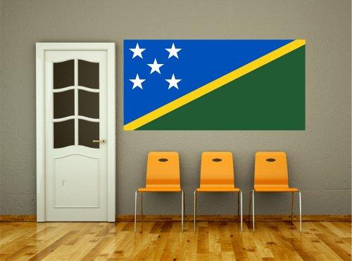 Kiwistar Wandtattoo Sticker Fahne Flagge Aufkleber Salomonen 120 x 60cm