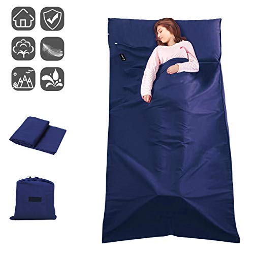 aingycy Sleeping Bag Liner Envelope Travel Sheet and Sleeping Bag Liner for Camping,Backpacking,Hiking,Hotel,Portable with Compression Sack
