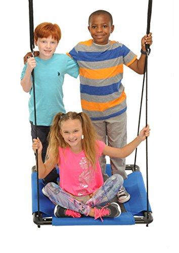 "Swinging Monkey Products Square Platform Swing, Blue, 32"""