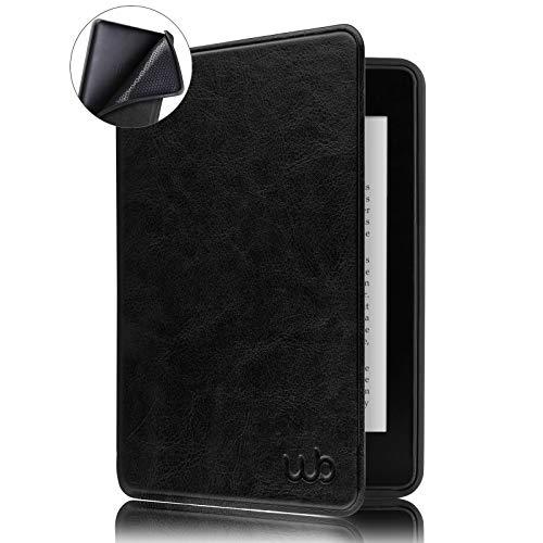 Capa Novo Kindle 10ª Geração, WB, Auto Hibernação, Sensor Magnético, Couro Premium, Silicone Flexível, Preta