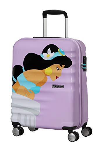 American Tourister Wavebreaker Disney Deluxe - Spinner S Hand Luggage, Purple (Jasmine), 55 cm, 36 Litre