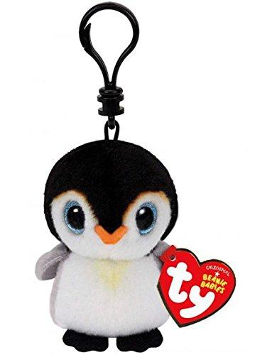 Holland Plastics Original Brand TY Beanie Boos Pongo der Pinguin, Clip für Schlüssel
