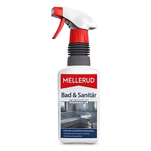Mellerud Bad & Sanitär Kraftreiniger – Wirksames Spray gegen Kalk- & Wasserflecken im Badezimmer – 1 x 0,5 l
