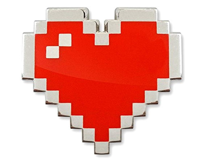 MemePinz 8-Bit Pixel Heart Enamel Lapel Pin
