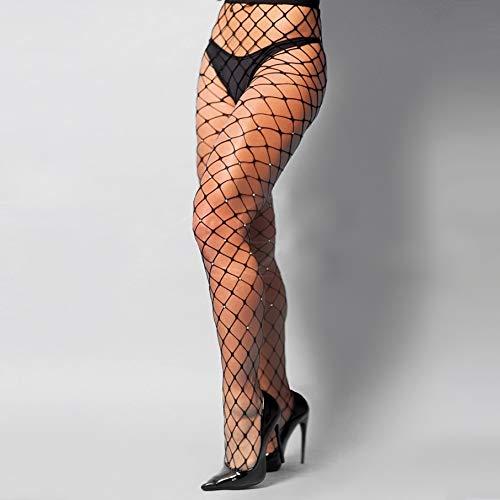Meia calça arrastão com strass - 2022 Cor:Preto;Tamanho:Único