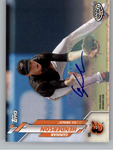 2020 Topps Pro Debut Autographs Baseball #PD-171 Gunnar Henderson Auto Autograph GCL Orioles Official MiLB Minor League Trading Card Pick From List
