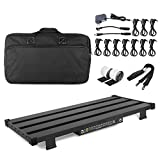 """Extra Large Guitar Pedal Board with Power Supply and DI Box, 25.6""""x11.9"""", Comes with Carrying Bag"""