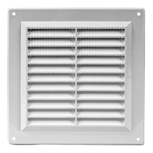 150x150mm White Plastic Air Vent Grill Cover 6x6 inch Ventilation Cover with Fly Mesh
