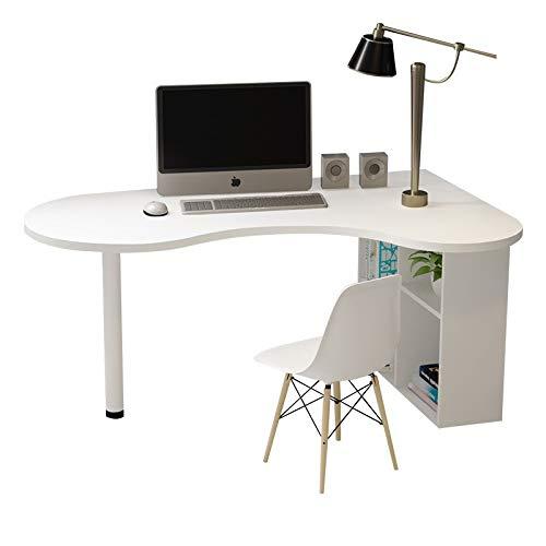 Mesa Permanente de Escritorio del Ordenador de Escritorio el Escritorio Simple del Aprendizaje Home Dormitorio Oficina Escritorio esquinero Monitor de Soporte Creativo