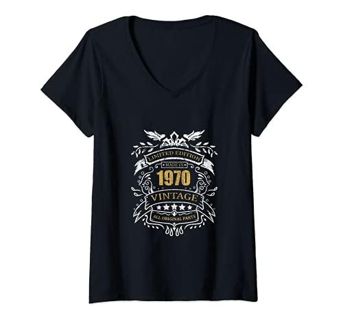 Mujer Limited Edition 51 Cumpleaños Idea Del Regalo Vintage 1970 Camiseta Cuello V