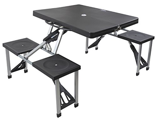 Andes Plastic Folding Camping/Picnic Outdoor Table & Chair Set