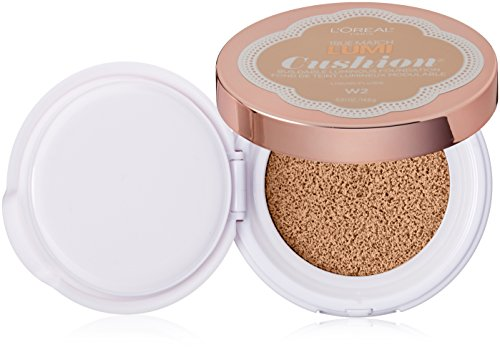 L'Oréal Paris True Match Lumi Cushion Foundation, W2 Light Ivory, 0.51 oz.