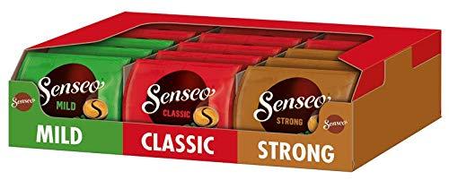 Senseo Pads Probierbox mit 3 Sorten: Classic, Mild und Strong, 240 Kaffeepad UTZ-zertifiziert, 15 x 16 Getränke, 1.6 kg