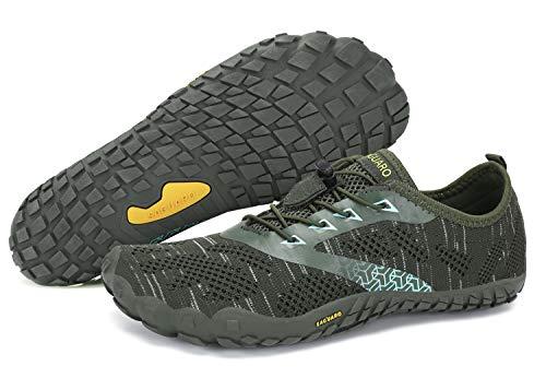 SAGUARO Unisex Wasserschuhe Schnell Trocknend Traillaufschuhe Straßenlaufschuhe Fitnessschuhe rutschfest Outdoor für Damen Herren Grün 43