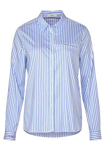 Cecil Damen Hemdbluse mit Streifenmix Blouse Blue L