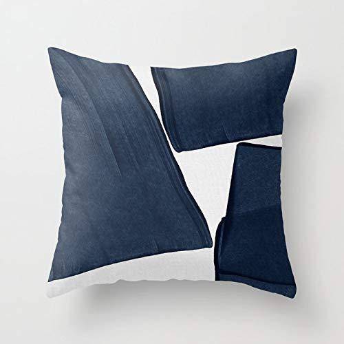 PPMP Acuarela Azul Abstracto mármol patrón geométrico sofá Funda de Almohada Dormitorio decoración del hogar Funda de cojín Funda de Almohada A9 45x45cm 1pc