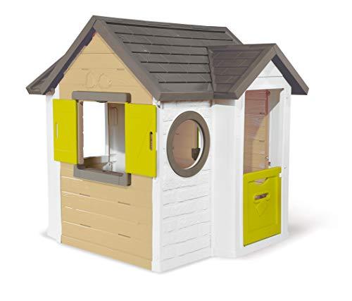 Smoby - Mein Neues Haus - Spielhaus für Kinder für drinnen und draußen, erweiterbar durch Zubehör, Gartenhaus für Jungen und Mädchen ab 2 Jahren
