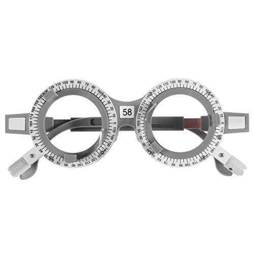Exceart Versuchsrahmen Optisch Versuchslinsenrahmen Optisch Titanoptisch Versuchsaugenoptometrie Linsenrahmen Testoptiker (Pd 58)