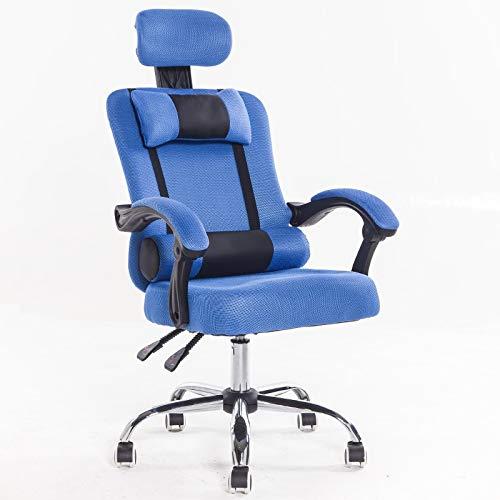BLWX - Fauteuil pivotant-chaise de bureau Home Office Chair Fauteuil ergonomique inclinable pour soulève-pieds Fauteuil pivotant en tissu maillé Chaise pivotante (Couleur : G)