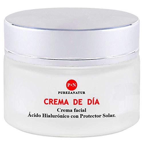 Crema de Dia con Acido hialuronico y protector solar antiarrugas para ojos y cara | Hidratante, rejuvenece, antiedad, protege contra el sol fps e hidrata