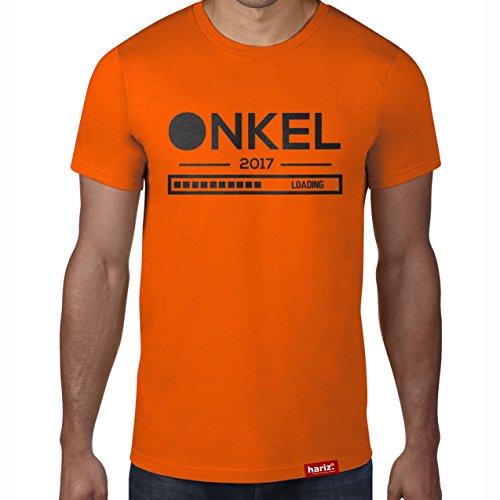 "Hariz Onkel 2017 Loading // Camiseta original – Seis colores, XS – 4XXL // Familia con frase en alemán ""Hombres"" naranja XL"