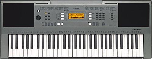 Yamaha PSR-E353 - Teclado portátil (61 teclas, 158 estilos), color gris