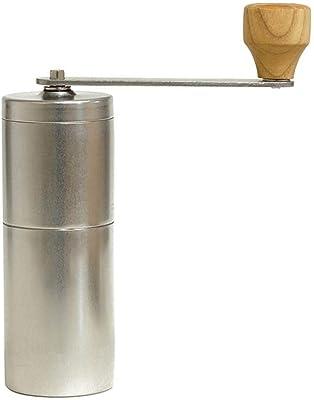 手動コーヒーグラインダー ヴィンテージリムーバブル洗えるホームハンドクランクコーヒーグラインダーコーヒーグラインダーステンレス鋼ホーム手作り 新鮮な味を提供します (Color : Silver, Size : One size)