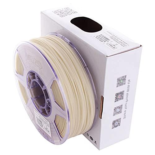 Filamento de nylon relleno de fibra de vidrio 1.75 mm, filamento de impresora 3D PA-GF, 1 kg (2.2 lbs) carrete, 75% Pa66 + 25 fibra de vidrio