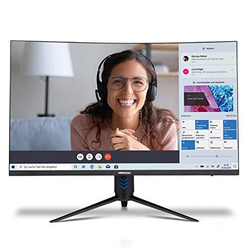 MEDION P53292 80 cm (31,5 Zoll) Full HD Curved Monitor (16:9, integrierte Lautsprecher, HDMI, DisplayPort, 165Hz, 1 ms Reaktionszeit, mehrsprachiges Menü)