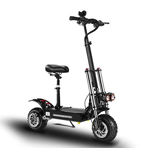 Elektroroller Electric Scooter Elektroscooter Faltbar City Roller Fahrzeug 5400 Watt Motor Klappbar Elektroroller Scooter Geschwindigkeit Erwachsene bis 85km/h 400 kg Last