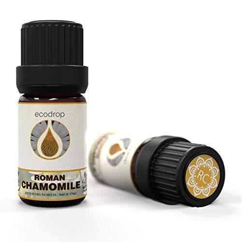Ätherisches Öl aus römischer Kamille, 100% rein, beste therapeutische Qualität für Aromatherapie, Massage, Diffuser, 5ml (Englische Kamille)