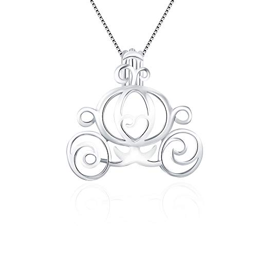 LGSY Carriage Cage Pendants for Pearl Jewelry Making Sterling Silver, Design Pearl Cage Pendants for Adorable Gift