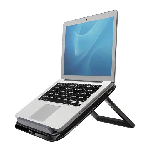 Fellowes Laptop Ständer I-Spire Quick Lift, höhenverstellbar, klappbar, portabel, für Notebooks bis 17 Zoll, schwarz