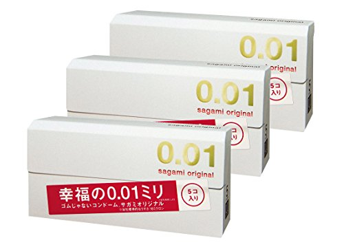 Sagami Original 001 Condom 5pc Set of 3 by Sagami