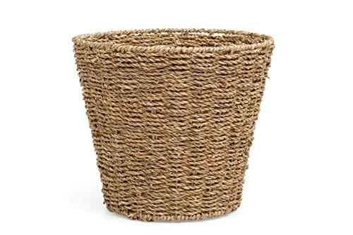 ARPAN Waste Bin - Woven Waste Paper Basket for Bedroom, Kitchen, Bathroom or Office - Seagrass Trash Can - Versatile wastebasket for garbage and rubbish