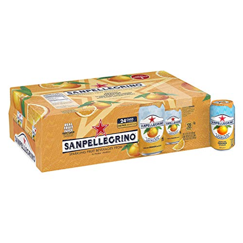 Sanpellegrino Italian Sparkling Drink, Orange, 11.15 Fluid Ounce, Cans (Pack of 24)