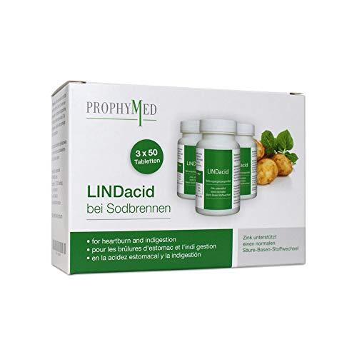 Lindacid Tabletten gegen Sodbrennen, Gut für die Magenschleimhaut, frei von Nebenwirkungen, natürlich, Kartoffelpresssaft, Magensäure natürlich lindern 150 Stk (3 Packungen)