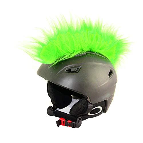 Helm-Irokese für den Skihelm, Snowboardhelm, Kinderskihelm, Kinderhelm, Motorradhelm oder Fahrradhelm - Der etwas auffälligere Helm-Aufkleber - für Kinder und Erwachsene Helmcover HELMDEKO (Hellgrün)