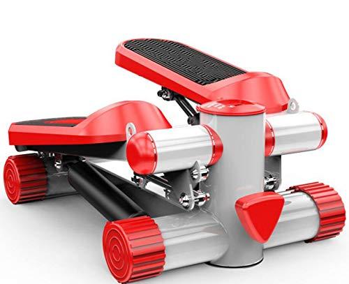 FGSJEJ Laufband Gewichtsverlust Maschine Treppe Stepper Übung Stepper Maschine Fitness Mini Stepper Treppe Stepper Trainingsgeräte mit Widerstand Bands (Color : Red, Size : One Size)