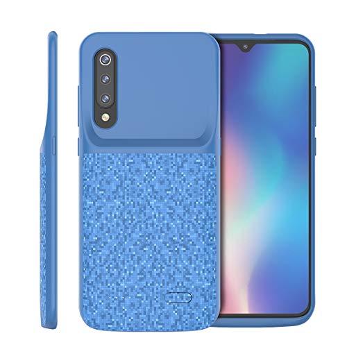 Xiaomi Mi 9 SE Funda Batería, 4700mAh Externa Funda Cargador Portatil Power Bank Backup Ultra Fina Recargable Batería Externa Carcasa Funda Protectora Extra Pack Blue