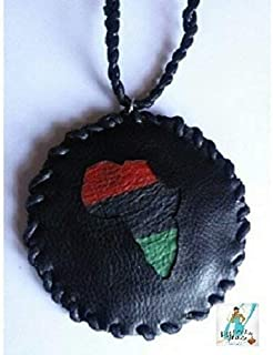 handcrafted leather african medallion