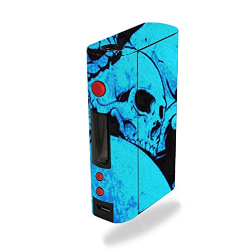 MightySkins Skin Compatible with Kanger KBOX 200W – Blue Skulls | Protective, Durable, and Unique Vinyl Decal wrap Cover | Easy to Apply, Remove, and Change Styles | Made in The USA